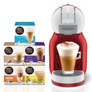 Nescafe Dolce Gusto Mini Me Coffee Machine, Red + 5 Capsule Boxes (80 Capsules) for Just Dh 449-img