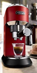 De'Longhi Dedica Style Pump Espresso Machine Red