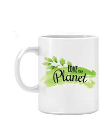 Twinkle Hands Love Your Planet Mug White 1274