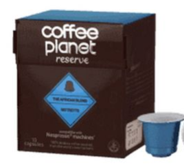 Coffee Planet African Blend Ristretto Capsules Compatible With Nespresso