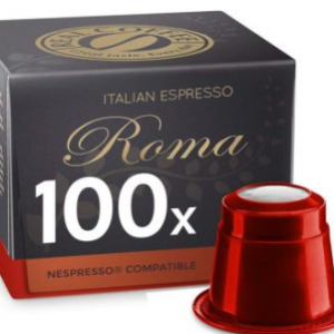 Real Coffee Italian Espresso Roma 100 Coffee Capsules