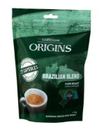 Caffeluxe Nespresso Compatible Capsules Origins Collection Brazilian Blend 25s