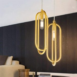 Gold Pendant Light Loft Ring Pendant Lamps Coffee Shop Bar Lights Accessories
