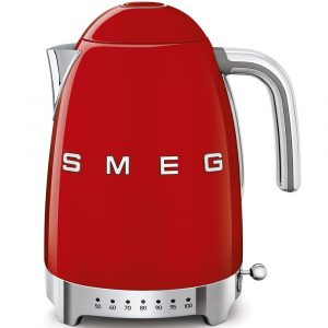Smeg 50'S Retro Style Aesthetic Variable Temperature Kettle Red